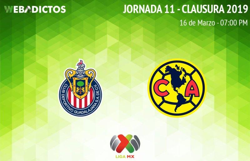 Chivas vs América, J11 del Clausura 2019 ¡En vivo por internet! - chivas-vs-america-apertura-2019