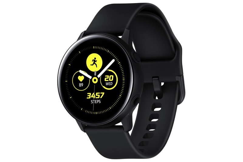 Samsung presenta Galaxy Watch Active y Galaxy Buds en México - galaxy-watch-active_black
