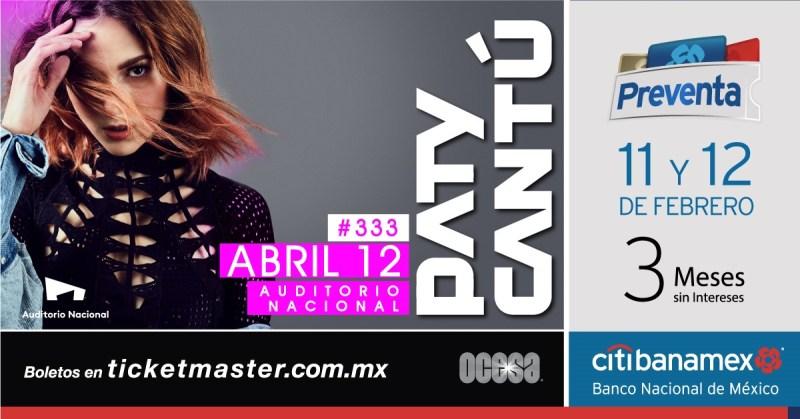 Paty Cantú llegará al Auditorio Nacional con su gira #333Live - paty-cantu