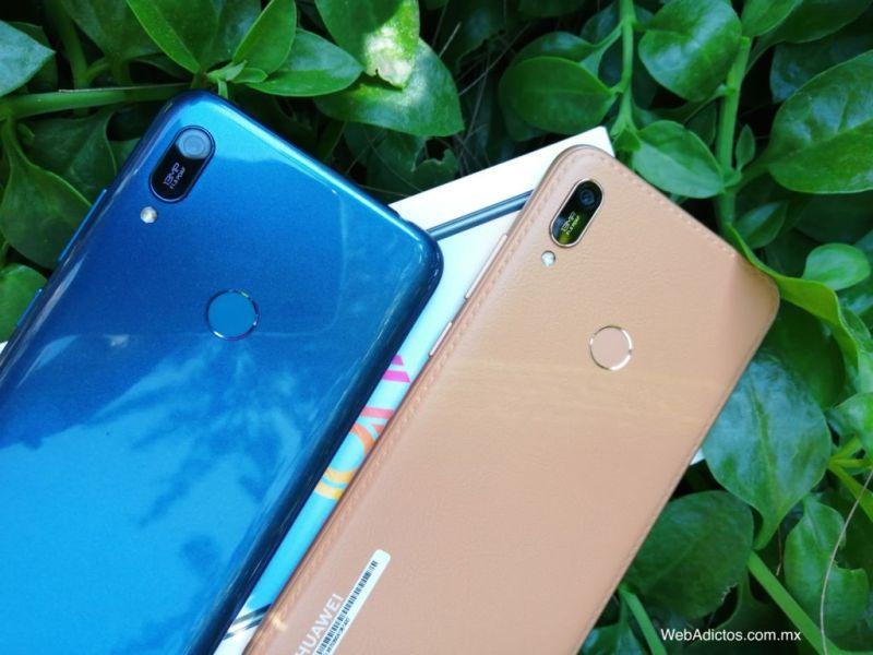 Nuevo Huawei Y6 2019 ¡conoce sus características y precio! - smartphone-azul-cafe-y6-2019-webadictos-800x600
