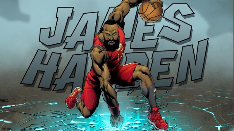 adidas y Marvel celebran a los héroes más poderosos del baloncesto - adidas_marvel_james_harden_twitter_coverparody