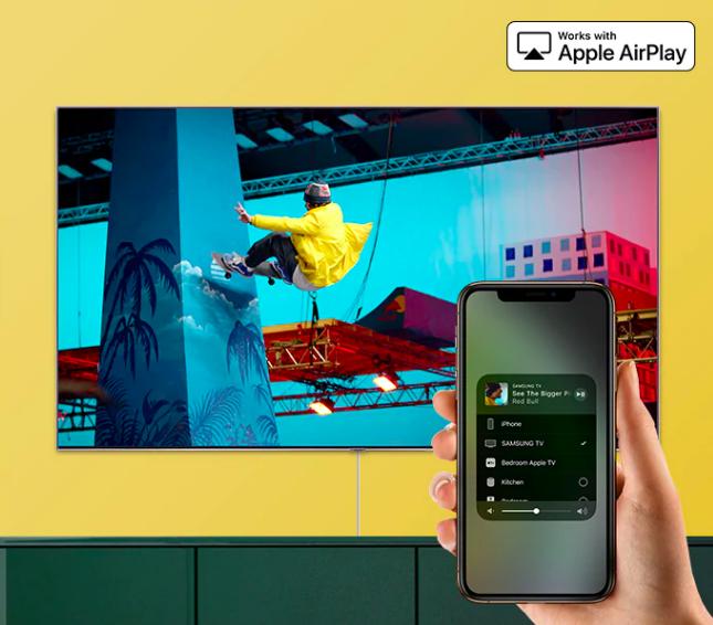 Samsung presenta la nueva línea de televisores QLED 8K - airplay-2
