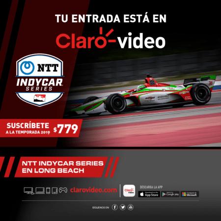 NTT Indy Car Series llega a Claro video