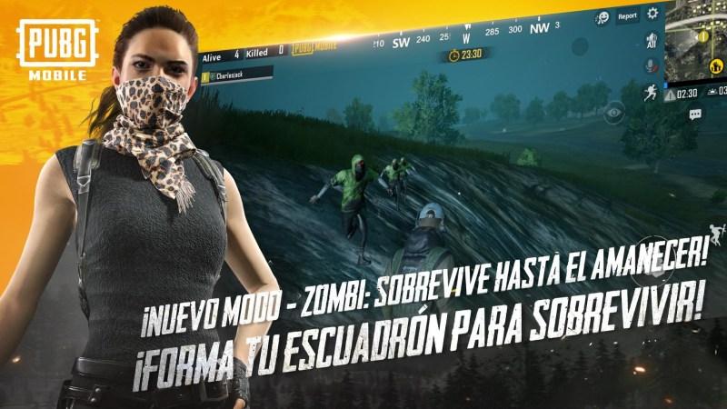 PUBG Mobile añade un nuevo modo de zombis disponible gratis en la App Store y Google Play - pubg-mobile-modo-de-zombis-webadictos