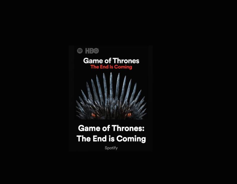 """Spotify presenta una actualización de la playlist """"Game of Thrones: The End Is Coming"""" - spotify-geme-of-thrones"""
