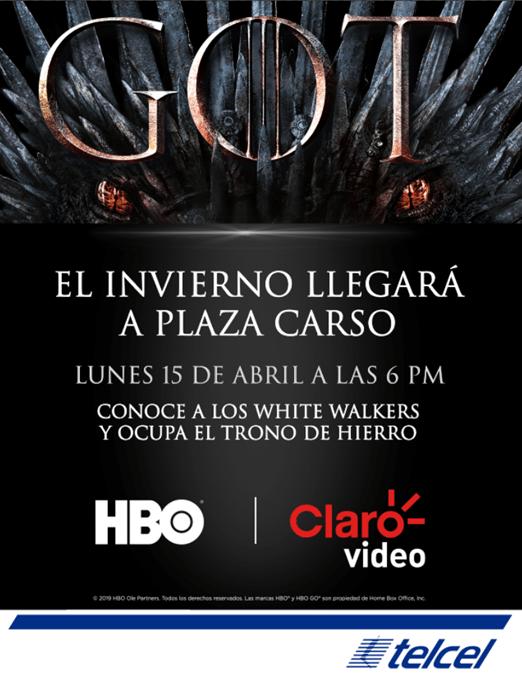 ¡Fans de Game of Thrones! los White Walkers y el espectacular Trono de Hierro llegan a Plaza Carso - trono-de-hierro-claro-video