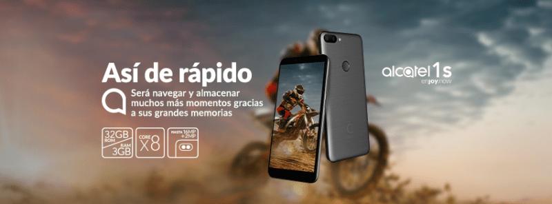 Alcatel 1S y 1C 2019 llegan a México ¡Conoce sus características y precios! - alcatel-1s-smartphone-800x296