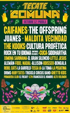 Lineup del Festival Tecate Comuna 2019