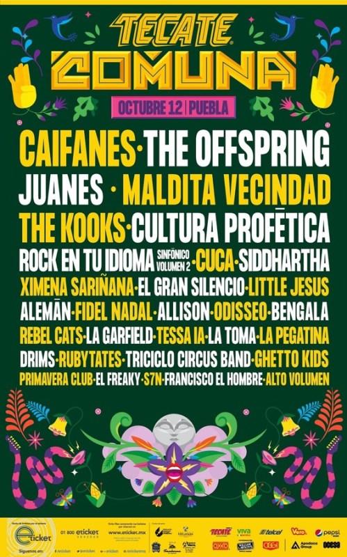 Lineup del Festival Tecate Comuna 2019 - comuna-499x800