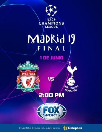 Final de la UEFA Champions League 2019 en Cinépolis ¡La preventa ya disponible!