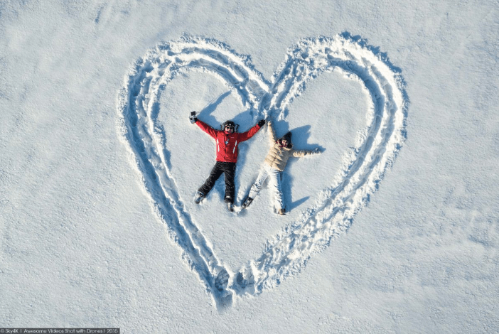 Enamórate de la fotografía con drones ¡conoce algunas ideas creativas! - fotografia-con-drones-dji-parejas_5