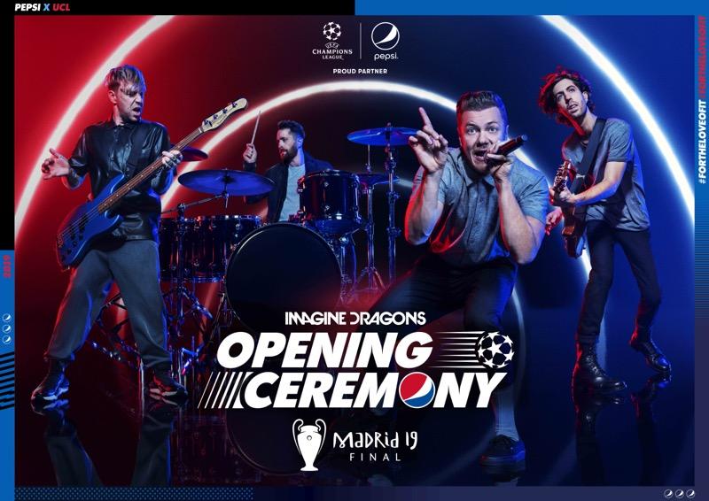 Imagine Dragons en la apertura de la Final de la Liga de Campeones de la UEFA 2019 - imagine-dragons-en-la-final-de-uefa-2019