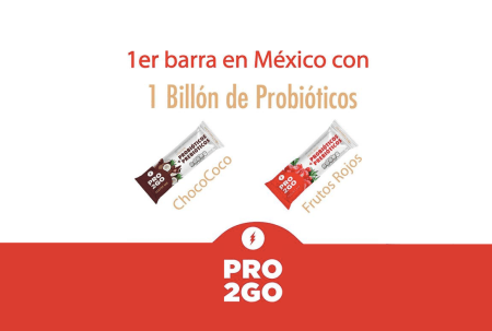 Pro2Go, lanzan barra en México que proporciona 1 billón de probióticos