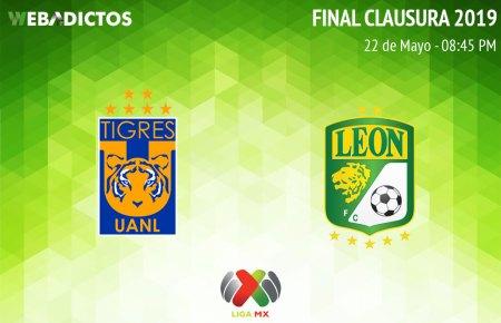 Tigres vs León, ida de la Final del C2019 ¡En vivo por internet!