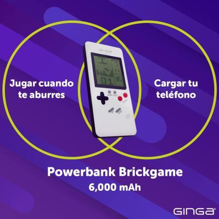 ¡Ahora al mismo tiempo con la Powerbank Brickgame de Ginga! Juega y recarga tu Smartphone