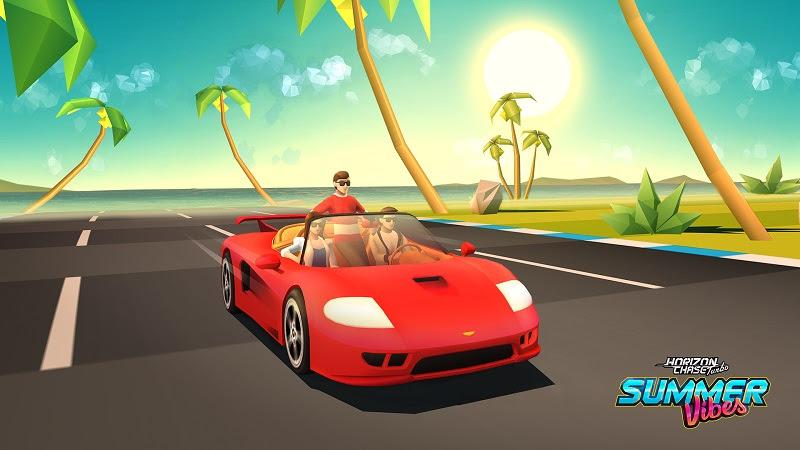 Llega Summer Vibes, el primer DLC de Horizon Chase Turbo - summer-vibes-trio