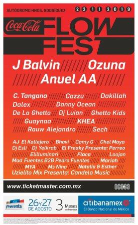 J Balvin, Ozuna y Anue AA en la tercera edición del Coca-Cola Flow Fest