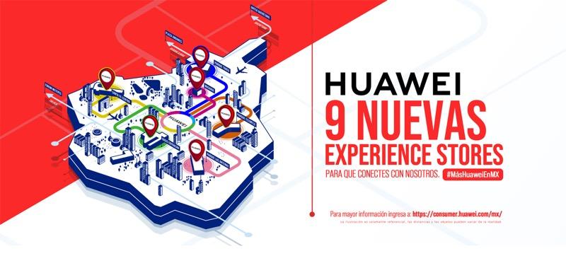 Huawei inaugura 9 nuevas Huawei Experience Stores en México - huawei-experience-stores-mx-800x379