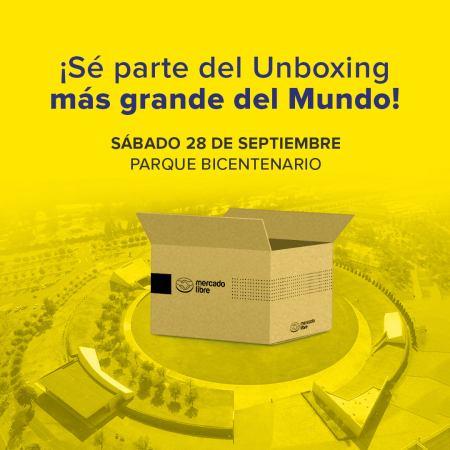 Mercado Libre te invita a festejar su 20 aniversario con el ¡unboxing más grande del mundo!