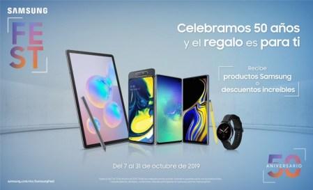 """""""Samsung Fest"""" ¡únete a la celebración de 50 años de innovación de Samsung con increíbles ofertas!"""