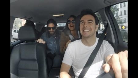 Checo Pérez fue socio conductor de Uber por un día y esto fue lo que pasó