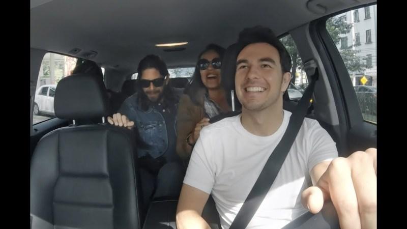 Checo Pérez fue socio conductor de Uber por un día y esto fue lo que pasó - uber-checo-perez