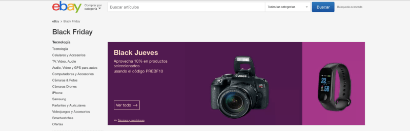 Preventa de eBay con miles de ofertas para el Black Friday 2019 - black-friday-ebay-2019-800x255