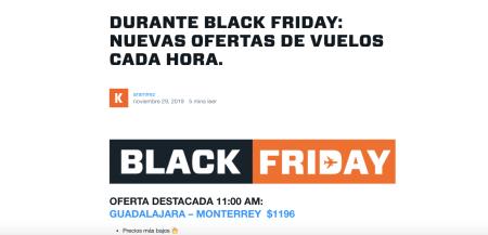 KAYAK lanza micrositio con las mejores ofertas de viaje durante Black Friday