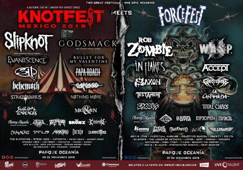 Knotfest Meets Force Fest en México: causa furor internacional - knotfest-meets-force-fest-mexico