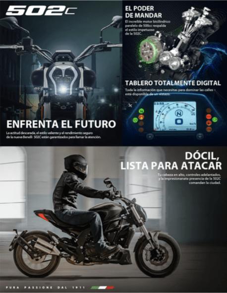 Benelli, marca Italiana de motocicletas lanza su colección 2020 en México - motocicleta-benelli-modelo-502c