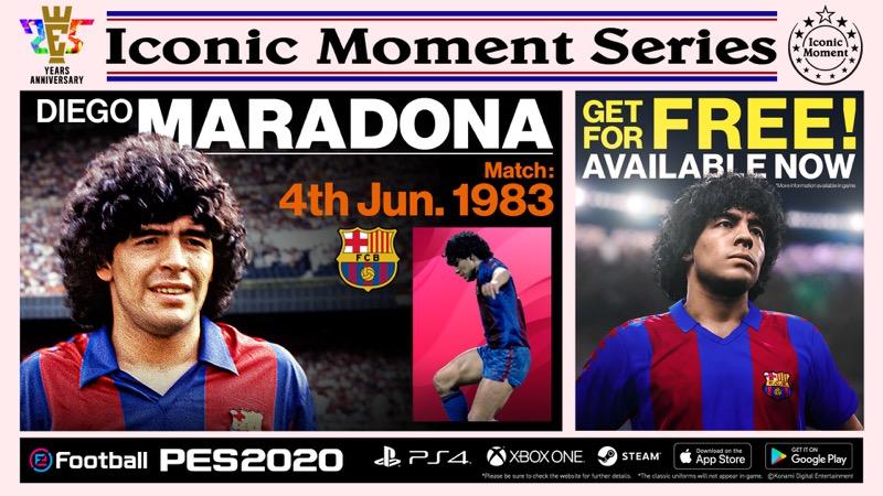 """Konami anuncia campaña para celebrar los 25 años de eFootball PES y presenta """"Iconic Moment Series"""" - efootball-pes_bar_maradona"""