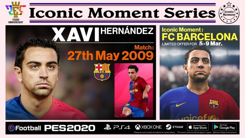 """Konami anuncia campaña para celebrar los 25 años de eFootball PES y presenta """"Iconic Moment Series"""" - efootball-pes_bar_xavi"""