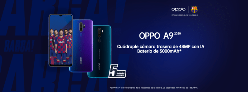 OPPO llega a México con los smartphones A9 2020 y A31 - oppo-a9-2020