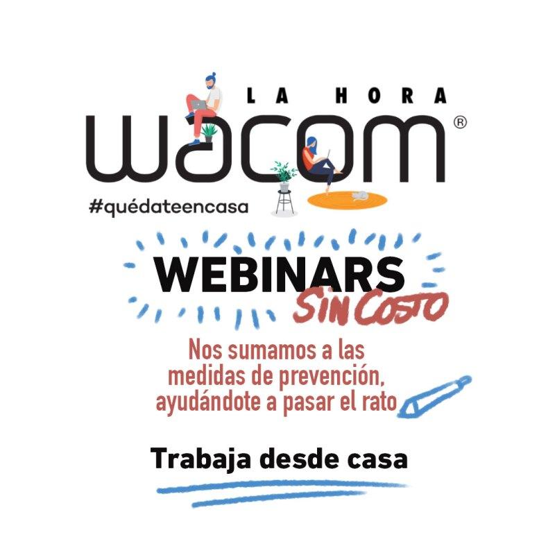 """Wacom se une a la iniciativa """"Quédate en casa"""" con webinars gratuitos - wacom-webinars-sin-costo"""