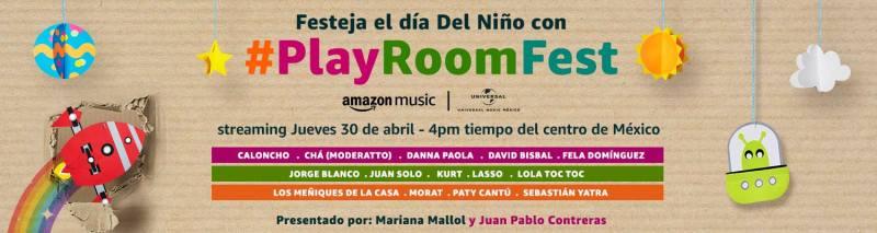 Amazon Music México y Universal Music celebran el Día del Niño con #PlayRoomFest - play-room-fest-2020-800x213