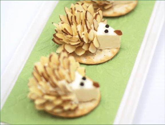 Recetas divertidas para preparar junto con los niños en la cuarentena - puercoespines-de-queso