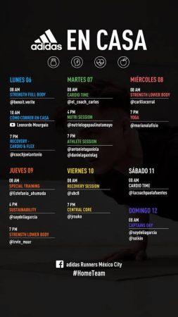 Calendario de entrenamientos de la tercera semana de adidas Runners