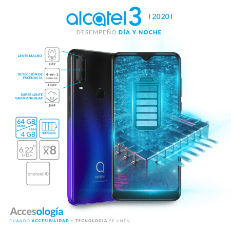 Alcatel 3 2020 llega a México ¡conoce sus características y precio!
