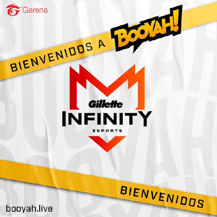 Gillette Infinity Esports llega a la plataforma de streaming BOOYAH! - bienvenidosinf