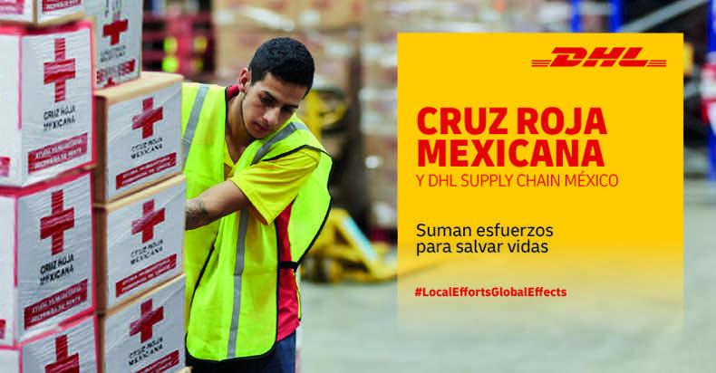 DHL y Cruz Roja suman esfuerzos para distribuir material de protección de manera urgente - dhl-supply-chain-cruz-roja-mexico