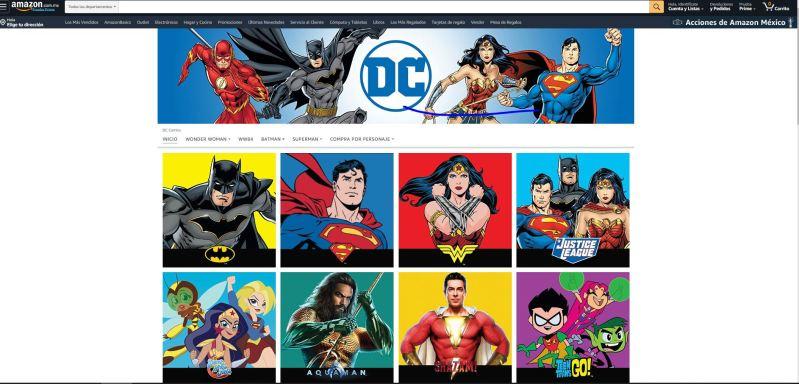 Los superhéroes de DC Comics ¡ya disponibles en Amazon México! - amazon-dc-comics