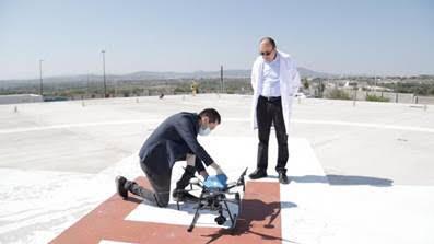 Drones realizan entregas de equipo médico en hospitales COVID
