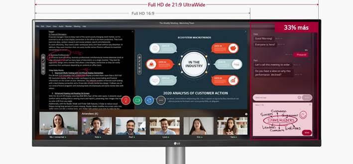 Top 5 de los mejores gadgets de LG equipados con Inteligencia Artificial para el Día del Padre - lg-ultrawide-monitor