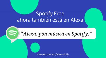 Spotify en su versión gratuita, ahora compatible con dispositivos Alexa