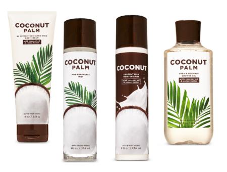 Coconut Palm, nueva línea Bath & Body Works especializada en hidratación profunda