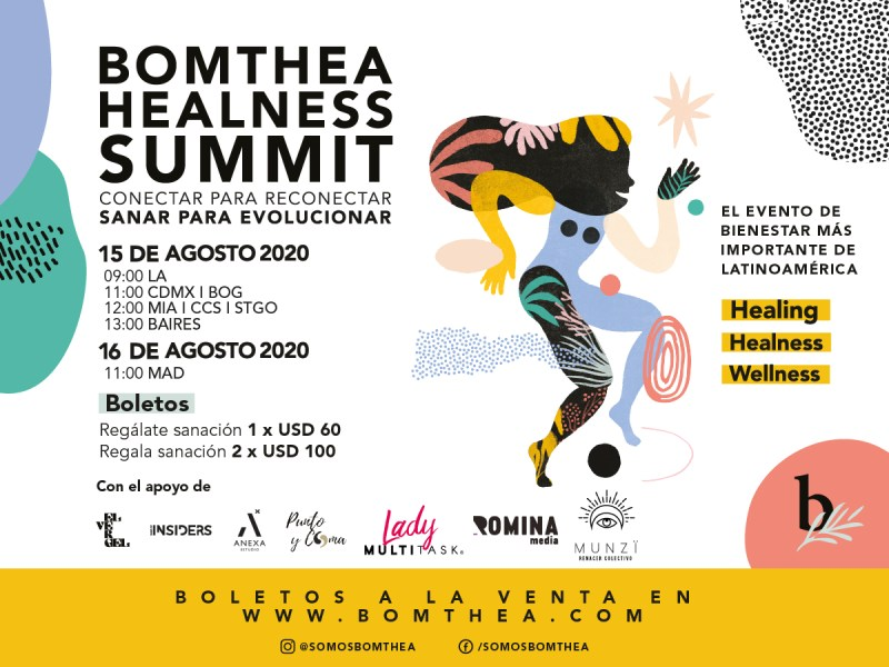 Bomthea Healness Summit: evento digital para reconectar contigo mismo - bomthea-healness-summit-800x600