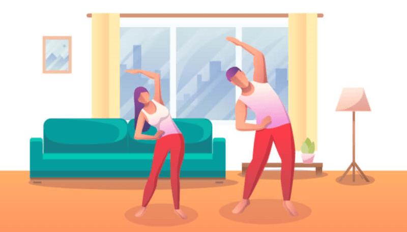 6 ejercicios súper fáciles y efectivos para hacer en casa - ejercicisos-para-hacer-en-casa-800x456