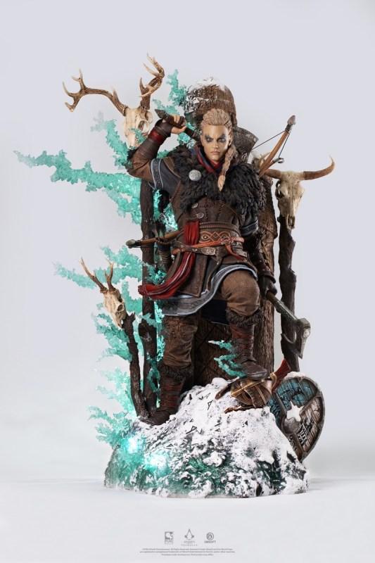 Estatua de Eivor, protagonista de Assassin's Creed Valhalla - estatua-de-eivor