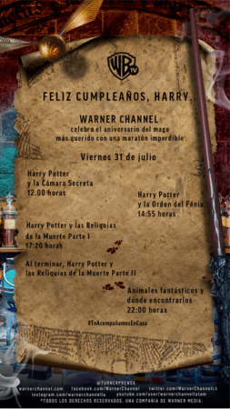 ¡Feliz cumple Harry Potter! programación especial por Warner Channel