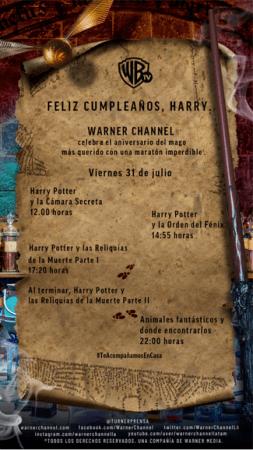 ¡Feliz cumple Harry Potter! programación especial por Warner Channel